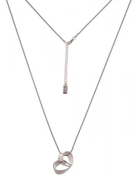 Leslii Damenkette Swing aus Metalllegierung Länge 80cm in Silber