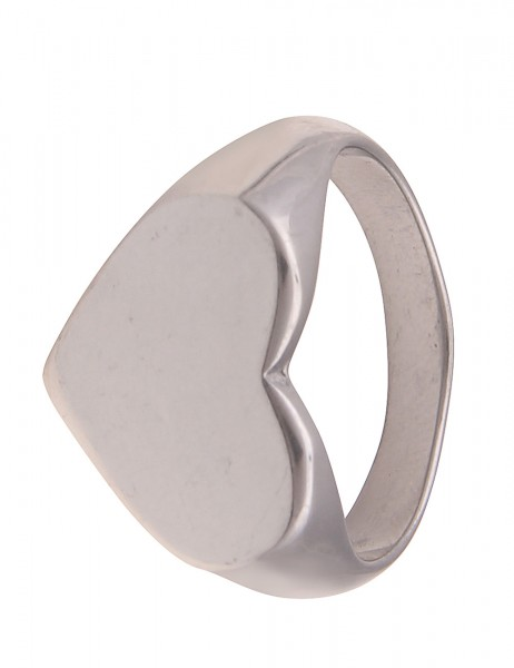 Leslii Damen-Ring Herz-Ring breiter Statement-Ring Herz-Schmuck Liebe silberner Modeschmuck-Ring in