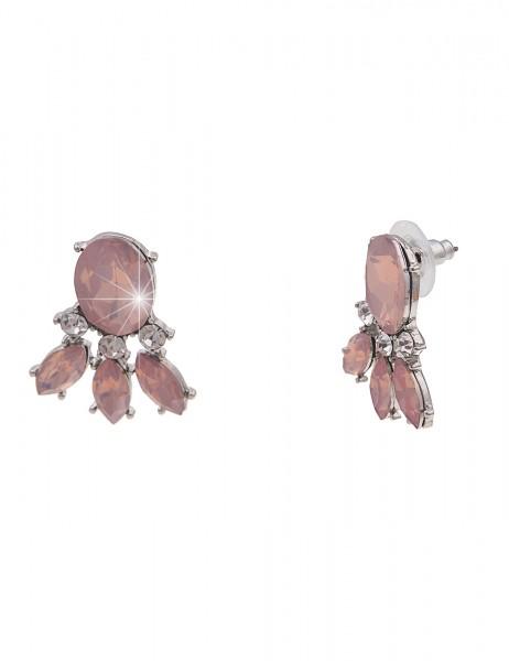 Leslii Damen-Ohrringe Statement-Ohrstecker Glitzer große Ohrringe silberne Modeschmuck-Ohrringe Ohrs