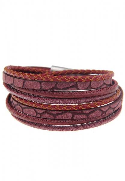 - 50% SALE Leslii Easy Rot | Trendiges Wickelarmband | Damen Mode-Schmuck | 40cm