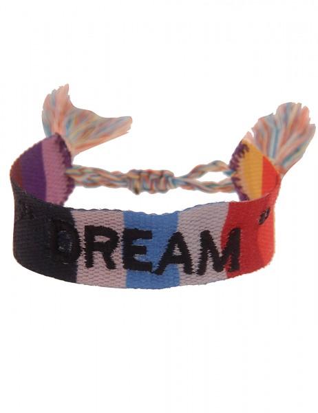 Leslii Damen-Armband Festival-Armband Dream-Schriftzug in Bunt