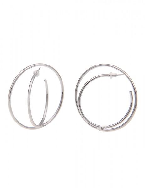 -70% SALE Leslii Damen-Ohrringe Doppel-Creolen Metalllegierung Ø 5cm 230114779