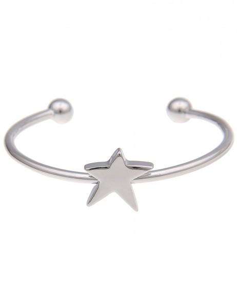 -50% SALE Leslii Armband Armreif Glanz-Stern Silber | Damen-Armband Mode-Schmuck | Länge: 19cm
