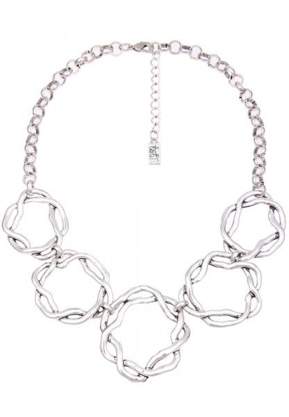 LAST CHANCE! Leslii Kurze Halskette Silver Swirl in Silber