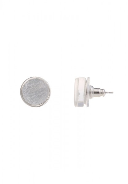 -70% SALE Leslii Damenohrringe Ohrstecker Capizmuschel aus Metalllegierung mit Muschel Größe 1,2cm i