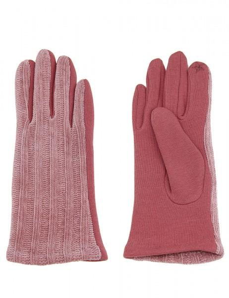Leslii Damen Handschuhe Strickmuster aus Polyester Größe One Size in Rosa