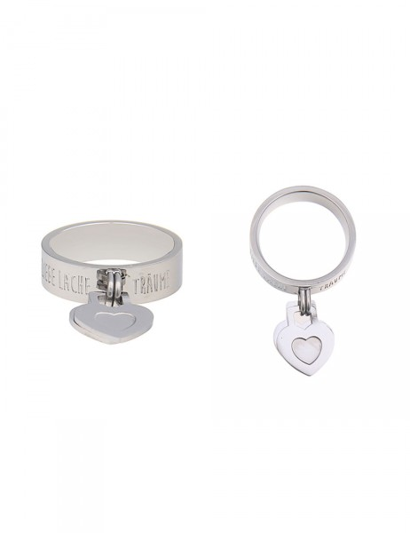 Leslii Damen-Ring Premium Quality Words Edelstahl Größe 17mm, 18mm oder 19mm 250215722