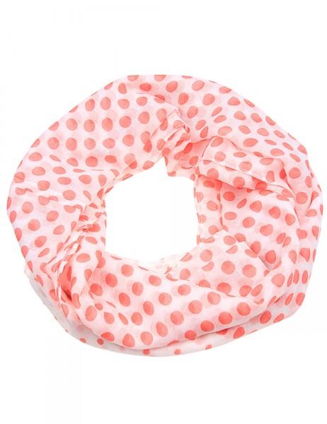 -50% SALE Leslii Damen-Schal Loop Punkte-Mix 100% Polyester 162cm x 80cm 900116045