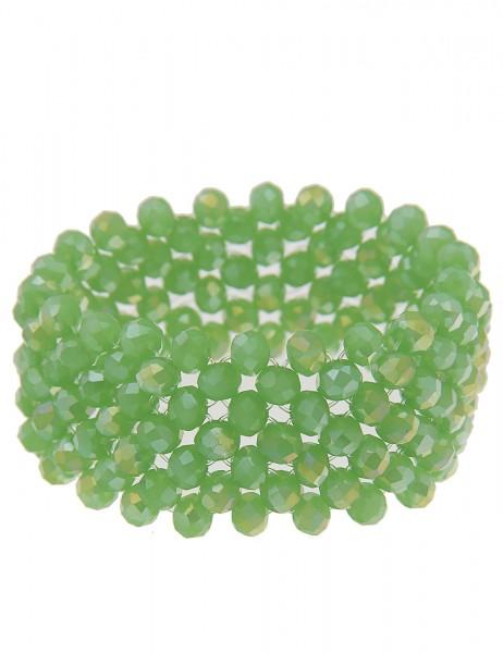 Leslii dehnbares Damen-Armband | Grüne Kugeln