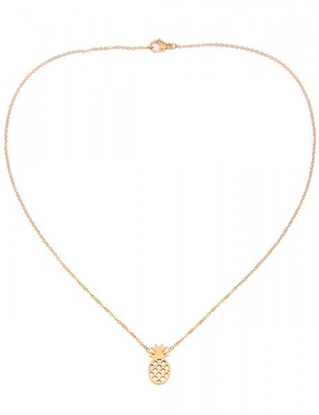 Leslii 4teen Damenkette Ananas aus Metalllegierung Länge 39cm in Gold