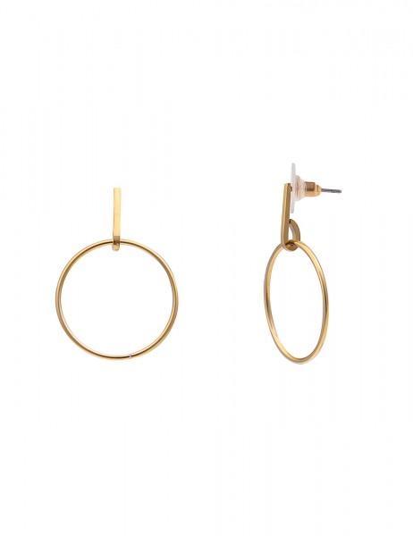 Leslii 4teen Damenohrringe Ohrhänger Ring aus Metalllegierung Länge 2,9cm in Gold