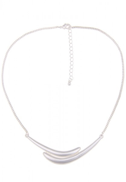 -70% SALE Leslii Swing Silber | Trendige kurze Kette | Damen Mode-Schmuck | 43cm + Verlängerung