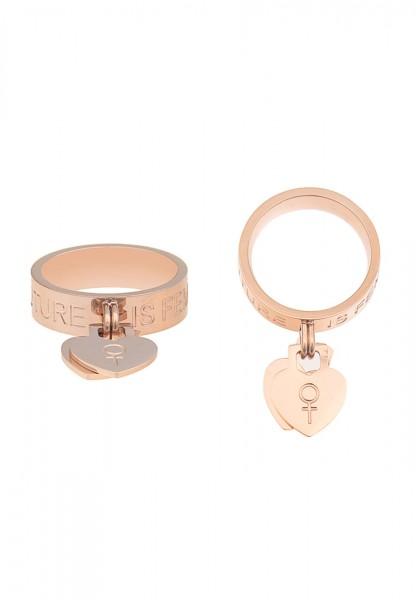 Leslii Damen-Ring Premium Quality Female Edelstahl Größe 17mm, 18mm oder 19mm 250115722