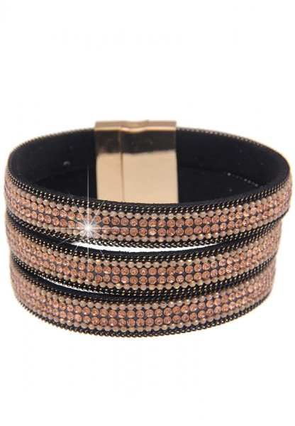 LAST CHANCE! Leslii Armband Glitzerfaden in Gold Braun