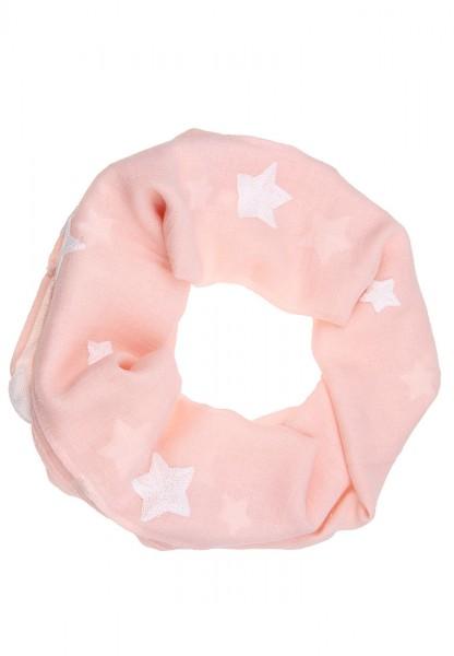 -75% Sale Leslii Loop Schal Häkel-Sterne Apricot   Trendiger Loop-Schal   Damen Mode-Accessoire   17