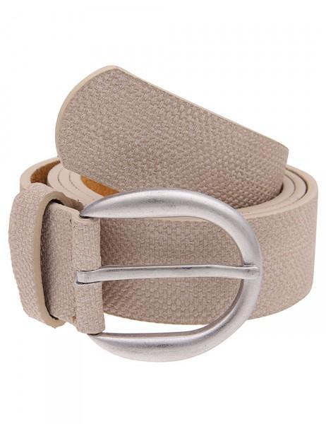 Leslii Damen-Gürtel Muster Style Beige 100% Polyurethan Breite 3,3cm 500116164