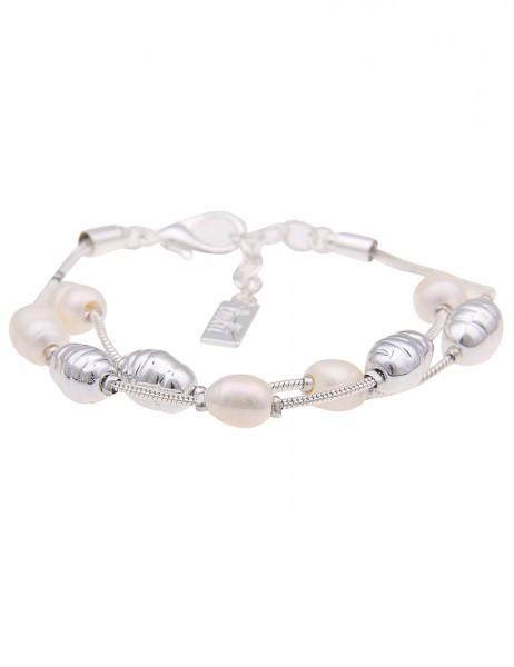 Leslii Damenarmband Strandspaziergang echte Süßwasser-Zuchtperlen Perlenarmband Modeschmuck-Armband