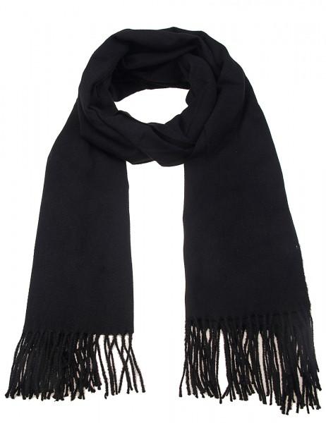 -50% SALE Leslii Damen-Schal Uni Trend 100% Polyester 184cm x 71cm Schwarz 900117147