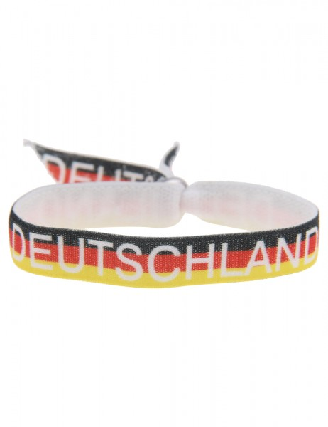 -50% SALE Leslii Damen-Armband Fußball Deutschland Textil-Band Größe verstellbar 260116303