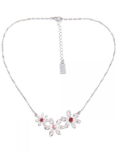 -50% SALE Leslii Damen-Kette Blüten-Glanz Metalllegierung 41cm + Verlängerung 210215846