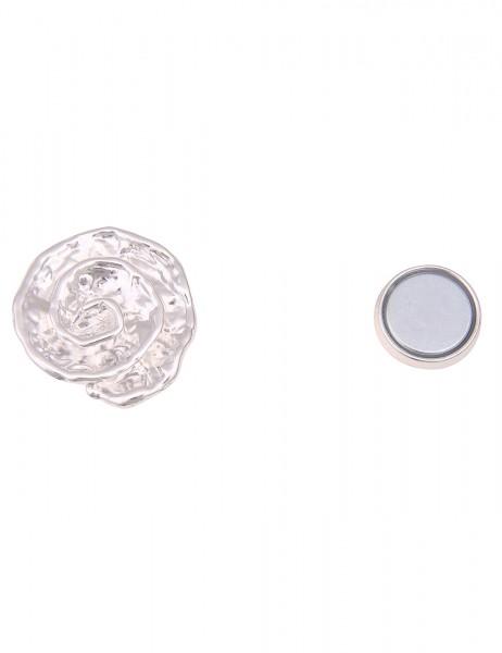 Leslii Damen Magnet-Pin Spiral-Muster Magnet-Brosche Anstecknadel Schal-Pin silberner Modeschmuck-Pi