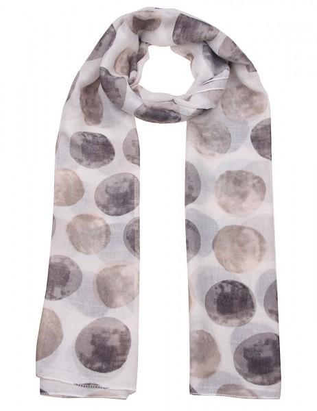 Leslii Damen Schal Punkte-Muster Dots Points weicher Punkteschal Herbstschal Größe 180cm x 90cm in W
