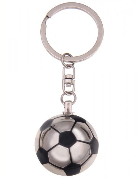 -50% SALE Leslii Schlüssel-Anhänger Fußball Silber Schwarz Metalllegierung Länge 9cm 290116265