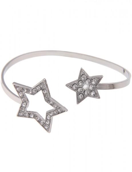 -50% SALE Leslii Armband Armreif Twinkle Stars Silber | Damen-Armband Mode-Schmuck | Länge: 19cm