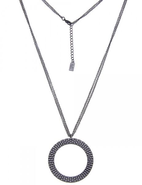Leslii Damen-Kette Muster-Ring Metalllegierung 85cm + Verlängerung 220115694