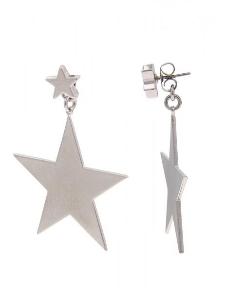 -70% SALE Leslii Ohrhänger Sternenglanz Silber | Trendige Damen-Ohrringe | Mode-Schmuck | Länge: 3,5