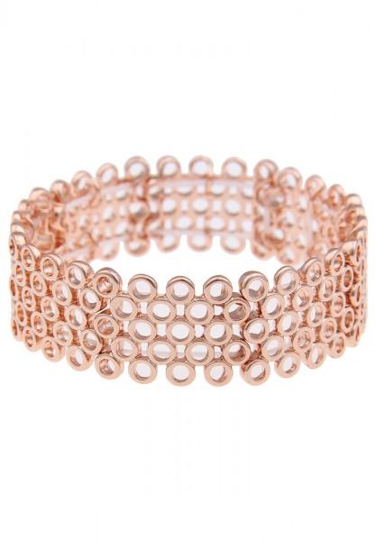 Leslii Ringmuster Rosé | Trendiges Armband | Damen Mode-Schmuck | flexibel