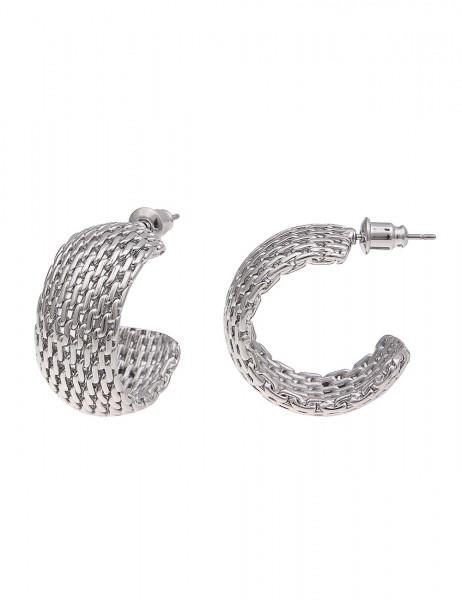 Leslii Damen-Ohrringe Premium Quality Mesh-Look Metalllegierung 2,5cm 230115625