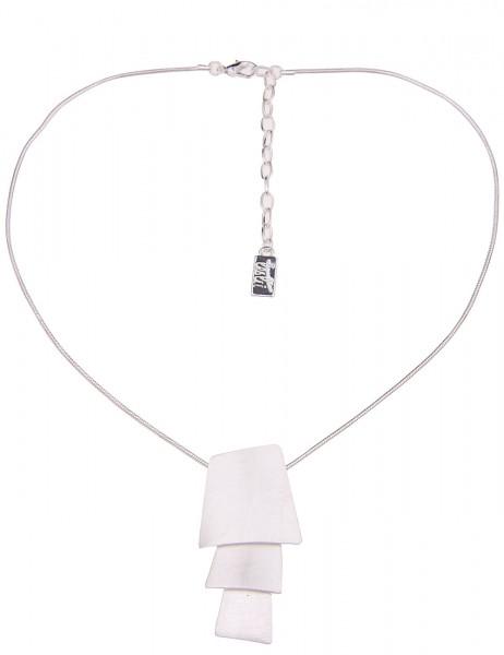 Leslii Damenkette Silvia aus Metalllegierung Länge 41cm in Silber Matt