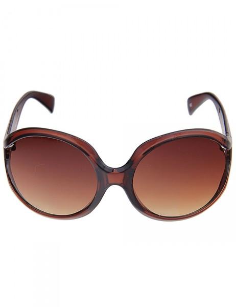 Leslii Damen-Sonnenbrille Boho-Look Braun Kunststoff braune Designer-Brille Sunglasses Brown