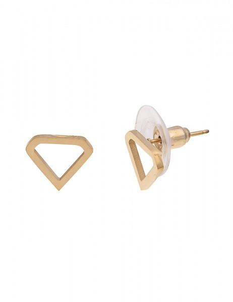 -50% SALE Leslii 4Teen Damenohrringe Ohrstecker Diamond aus Metalllegierung Länge 0,9cm in Gold