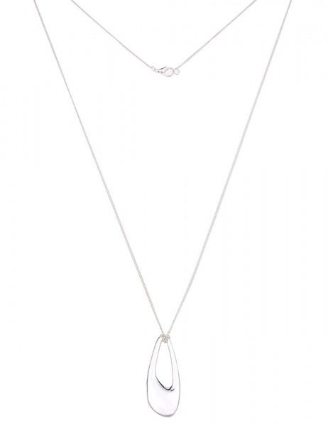 Leslii Damen-Kette Glanz-Tropfen Silber Metalllegierung 84cm + Verlängerung 220115923