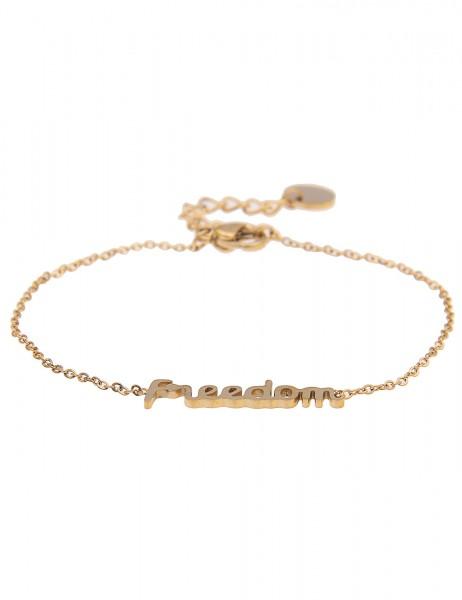 Leslii 4teen Damenarmband Freedom aus Metalllegierung Länge 15,5cm in Gold