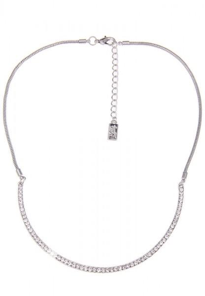 -70% SALE Leslii Glitzer Reif Silber | Trendige kurze Kette | Damen Mode-Schmuck | 44cm + Verlängeru