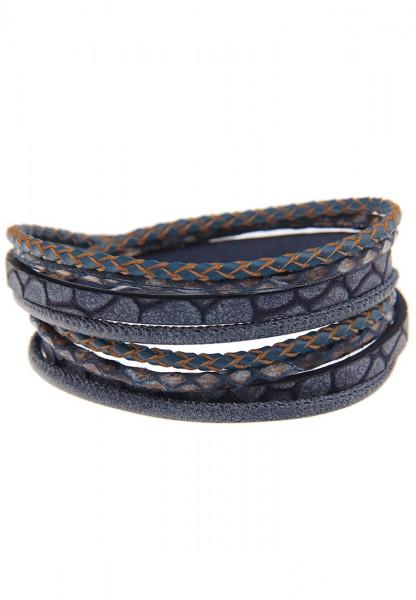 -50% SALE Leslii Easy Blau | Trendiges Wickelarmband | Damen Mode-Schmuck | 40cm
