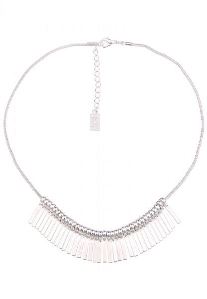 -70% SALE Leslii Halskette Things Silber | kurze Damen-Kette Mode-Schmuck | 42cm + Verlängerung