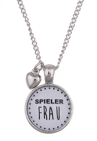 "LAST CHANCE! Leslii Lange Fußball Mottokette ""Spielerfrau"" in Silber"