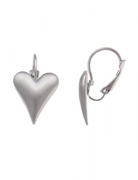 Leslii Damen-Ohrringe Ohrhänger Herz-Look Metalllegierung 2,5cm 230115197